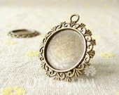 Antique Bronze Cameo Cabochon Base Settings 30x30mm ( Inner Size 20x20mm ) - 5Pcs - DS22360