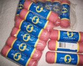 6 Pack of South Maid Cotton Yarn in Coral - Sport Weight New Sealed  Pack