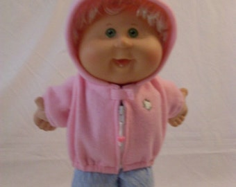 "14"" Baby Girl Cabbage Patch Pink Hooded Jacket"