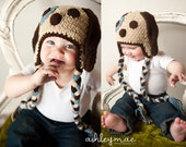 Puppy Dog Hat, Crochet, Child, Teen and Adult Sizes