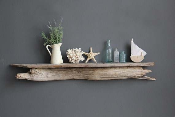Long Natural Driftwood Shelf Perfect Mantle