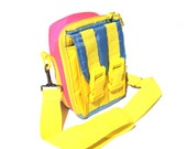 Awesome 90s Neon Multi-Buckle Mini Messenger Pouch