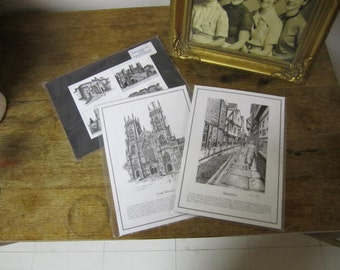 Set of Three signed prints of YORK, ENGLAND by Andrew Gilmore