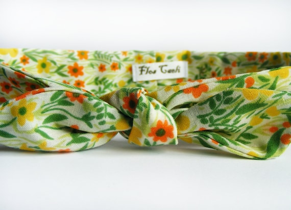 This is high quality bow cotton floral spring headband in turman kind of stile