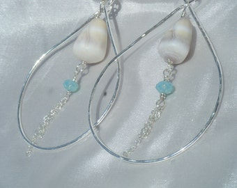Sterling Silver Hammered Teardrop earrings