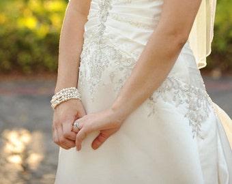 Bridal Wedding Jewelry Ivory Pearl Bracelet Multiple Strand Pearl Bead Bracelet Bridal Jewelry Pearl Bracelet For Bride Jewelry For Wedding