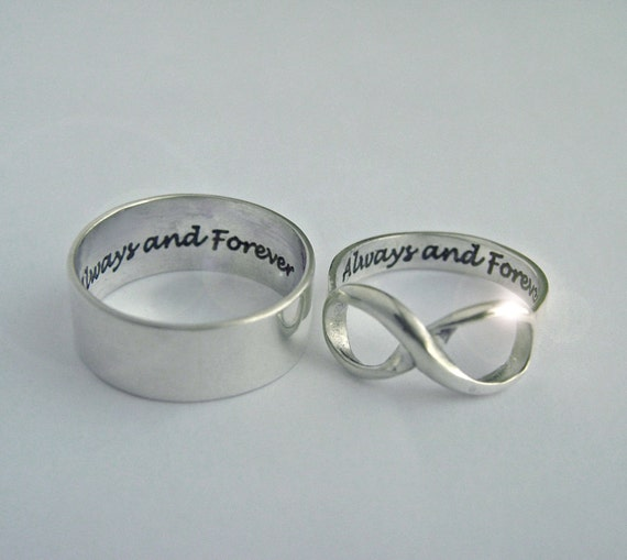 His Posey Her Infinity Always and Forever Infinity rings