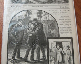 RARE Victorian Illustrated Papers, The Boy's Own Paper, Saturday, June 5th 1886, No 386 Vol VIII