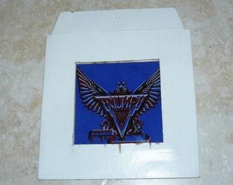 Vintage 1980s Glass Picture TRIUMPH Original Cardboard Frame