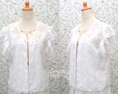 Embroidery Bolero White Cotton Chiffon Wedding Bridesmaid Casual Outer