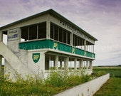 BP Race Command - 5x7 fine art print - abandoned French race circuit