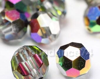 24 pcs Swarovski Elements - Swarovski Crystal Beads 5000 4mm Round Ball Beads - VITRAIL MEDIUM