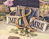 wedding chair signs mr mrs hanging, ivory white brown, reception photo prop