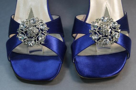 Items similar to SAMPLE SALE Wedding Shoes -- Horizon Blue Wedding ...
