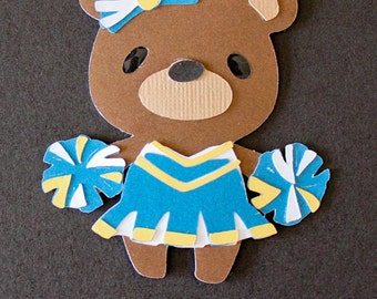 Teddy Bear Die Cut - CHEERLEADER