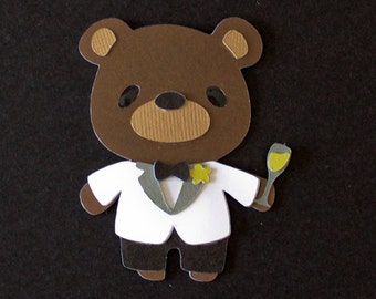Teddy Bear Die Cut - GROOM
