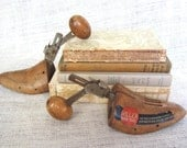 Vintage Wooden Miller Shoe Trees Shoe Forms Industrial Decor