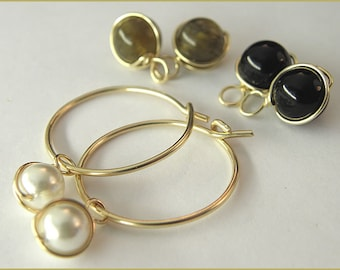 earrings changing 14k gold filled gemstone