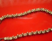 CLEARANCE Vintage 7 1/2 Silver tone Tennis Bracelets with Clear Rhinestones Bridal Wedding