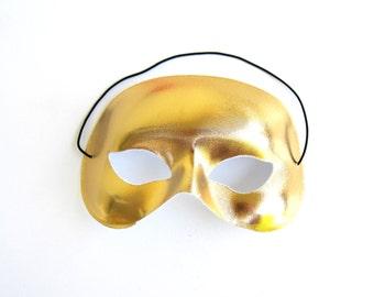 Unisex Mask Halloween Costume Gold for Men and Women Phantom of the Opera