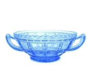 Vintage Glass Blue Bowl Collectibles
