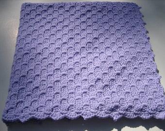 Baby Blanket - Soft Lilac Crochet Keepsake - Infant Afghan - Corner to Corner