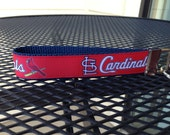 St Louis Cardinals Inspired Keychain Wristlet: Red and Navy