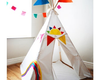 Rainbow play tent  teepee