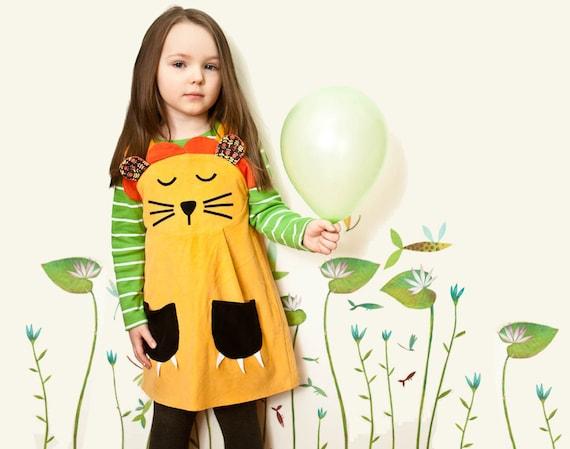 Girl's Gold Lion Dress