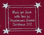 Embroidered Personalized Label