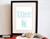 Great Love. Psalm 108:4. 8x10 DIY Printable Christian Poster. Bible Verse.