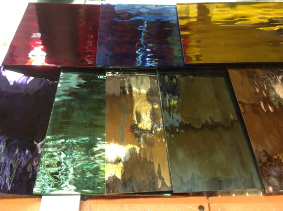 Stained Decorative Glass Panels Silk Screen / Patterned ... |Decorative Colored Glass Sheets