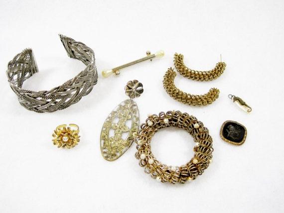vintage jewelry pieces, vintage jewelry, vintage supplies, junk ...