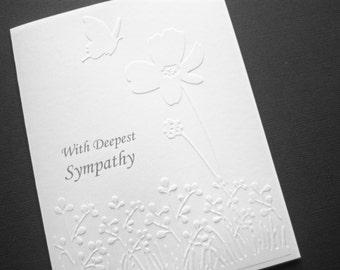 Wildflower in Meadow Sympathy Card