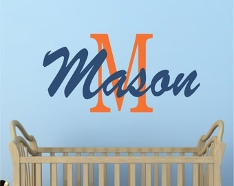 Boys Decals - Name Wall Decal - Baby Name Wall Decals - Nursery Decor