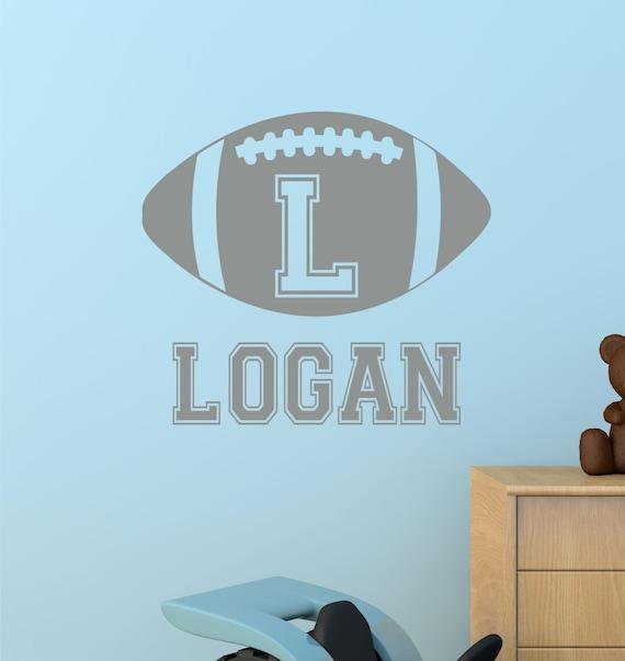 football kids wall art name wall decal football wall decal. Black Bedroom Furniture Sets. Home Design Ideas