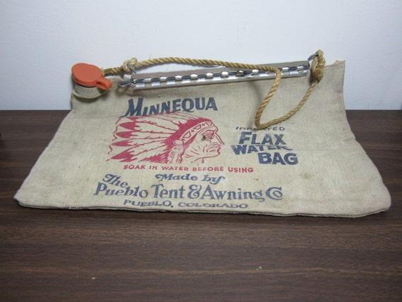 Vintage Minnequa Flax Water Bag By Ladyninanana On Etsy