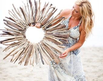 "Sunburst Driftwood Wreath 35"""