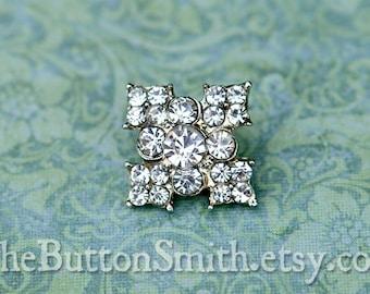 "Rhinestone Buttons ""Sarah"" (18mm) RS-052 - 5 piece set"
