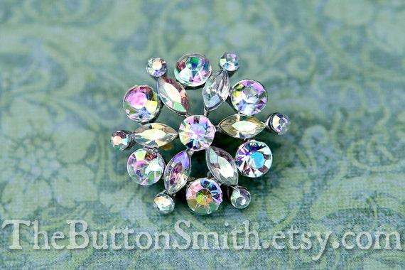 Rhinestone Buttons -Lisa- (21mm) RS-045 - 20 piece set