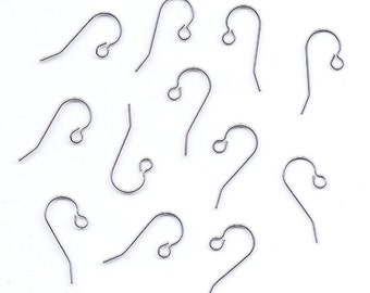 Six Pair Titanium French Hook Earwires