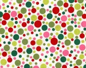 Fat Quarter fabric Christmas fabric for quilt or craft Michael Miller Play Dot in Santa