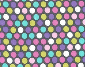 Flannel fabric by the yard, Michael Miller, Diddly Dot in Orchid fat quarter