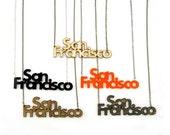 San Francisco Necklace - Handmade - Laser Cut
