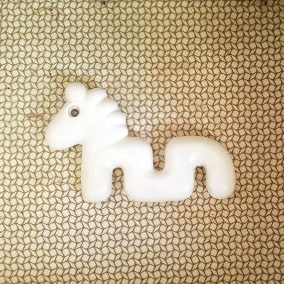 White Horse Toy, Vintage Nursery Decor, Gifts