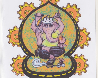 Ganesha, Remover of Obstacles Cycling Blank Card
