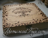 Victorian Cherubs Ouija Wood Burning Cigar Box 8x8