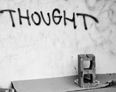 "Photo Postcard - Graffiti ""Thought"" - Urban Photography -  Breaking Reality Photography"