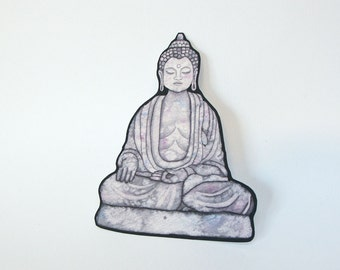 Buddah sticker for iphone case car window or crafting vinyl waterproof decal stone statue