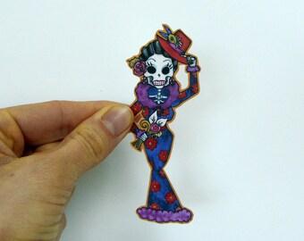 Dia De Los Muertos Sticker Vinyl Skeleton Decal for iphone case, car, scrapbooking